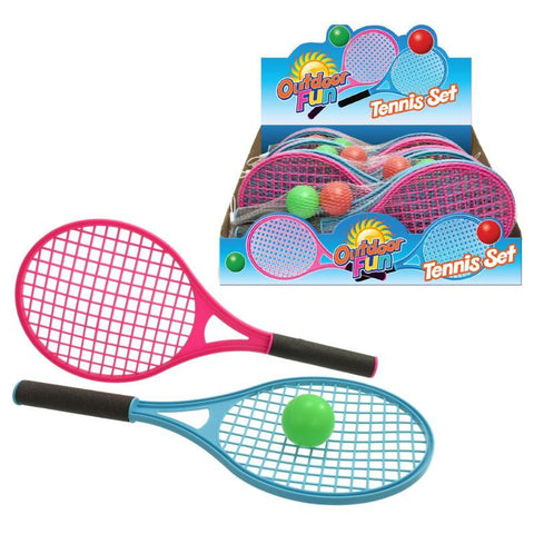 Tennis Racket & Ball Set Mini 40cm Twin Pack