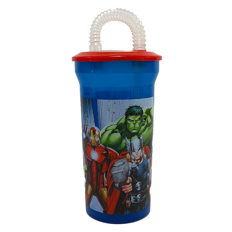 MARVEL AVENGERS CUP WITH STRAW