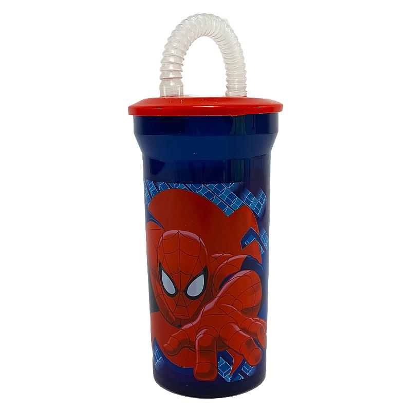 MARVEL SPIDERMAN CUP WITH STRAW