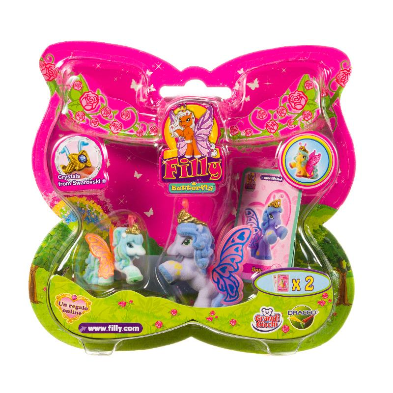 FILLY BUTTERFLY MINI UNICORN PONY FIGURE PLAY SET