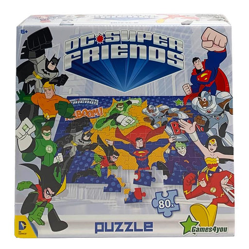 DC SUPER FRIENDS 80PC A3 SIZE JIGSAW PUZZLE (BLUE)