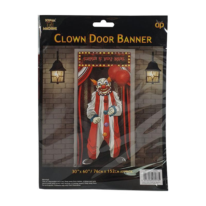Horror Clown Door Banner