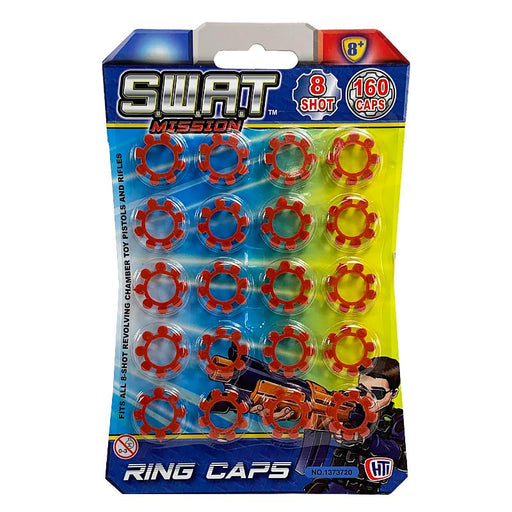 SWAT MISSION 8 SHOT 160PC RING CAPS