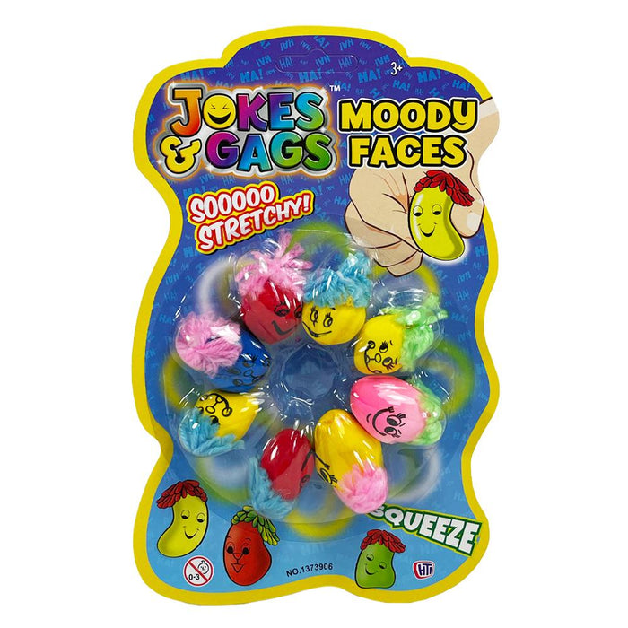 Moody Faces Squeeze Stretch 8pk