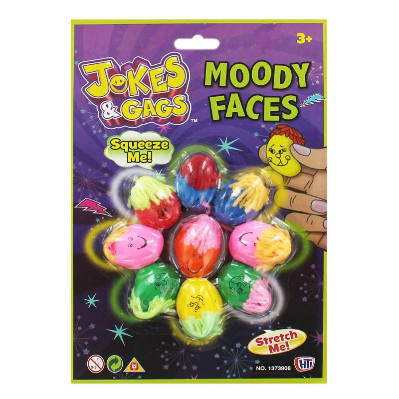 MOODY FACES SQUEEZE STRETCH 9 PACK