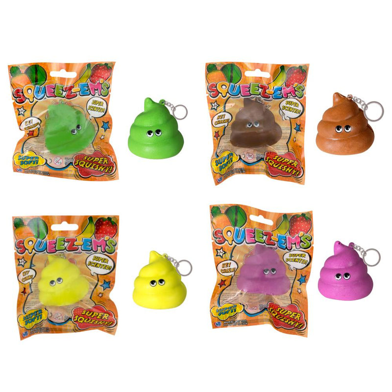 SQUEEZE-EMS POOP KEYCHAIN SCENTED SUPER SQUISHY (SML)