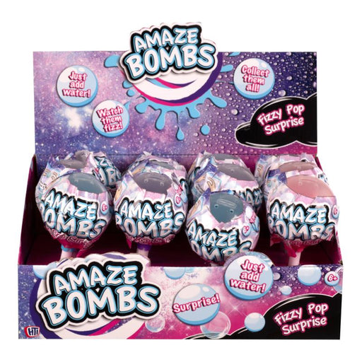 AMAZE BOMBS FIZZY POP SURPRISE BATH BOMB