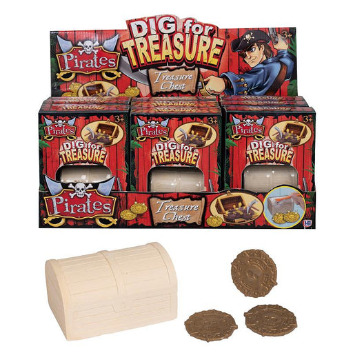PIRATE TREASURE CHEST DIG FOR TREASURE SET