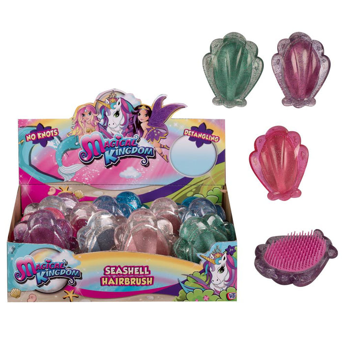 Magical Kingdom Seashell Detangling Hair Brush
