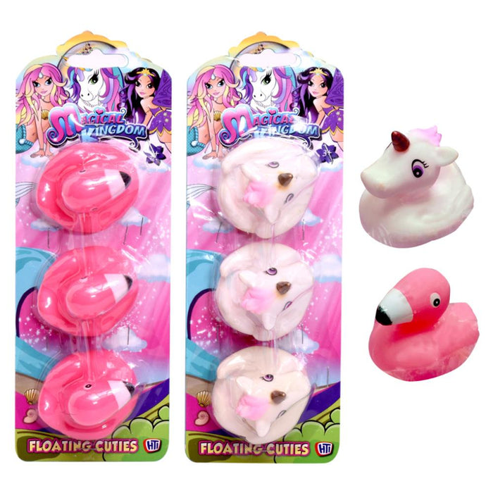 MAGICAL KINGDOM FLOATING CUTIES BATH TOY 3PK