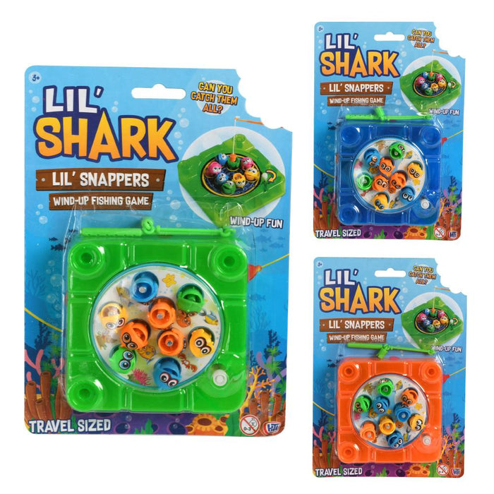 Lil Shark Snappers Wind Up Mini Magnetic Fishing Game
