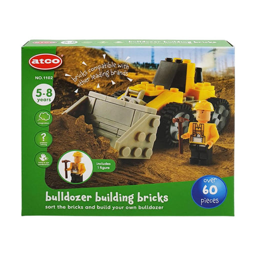 ATCO BUILDING BRICKS BULLDOZER 60PC PLAY SET