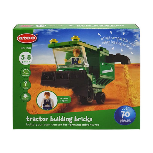 ATCO BUILDING BRICKS TRACTOR 70PC PLAY SET