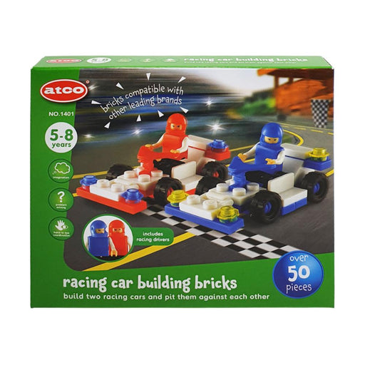 ATCO BUILDING BRICKS RACING CAR 50PC PLAY SET