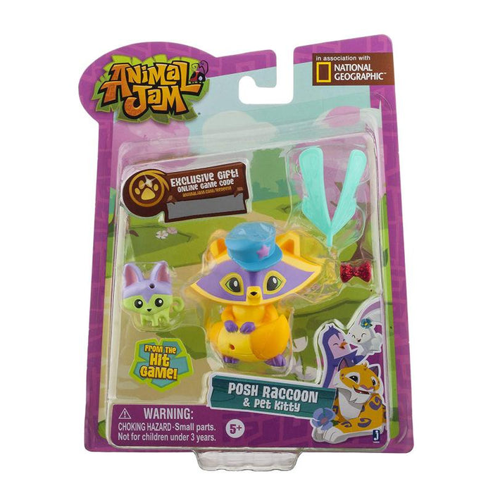 ANIMAL JAM RACCOON FIGURE & ACCESSORIES