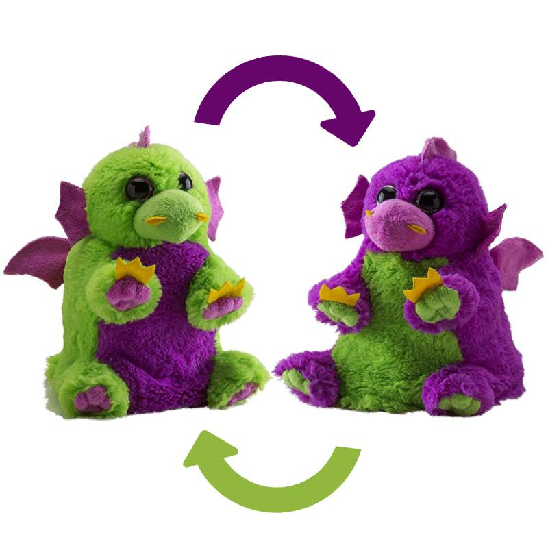 "SWITCH-A-ROOZ DRAGON REVERSIBLE 7"" SOFT PLUSH TOY"