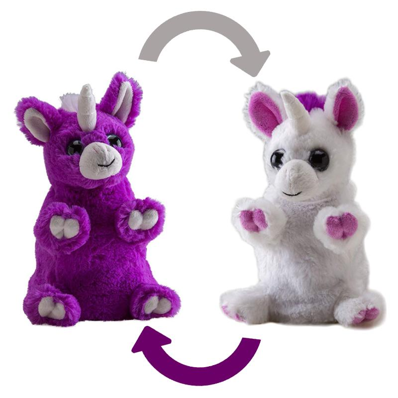"SWITCH-A-ROOZ UNICORN REVERSIBLE 7"" SOFT PLUSH TOY"