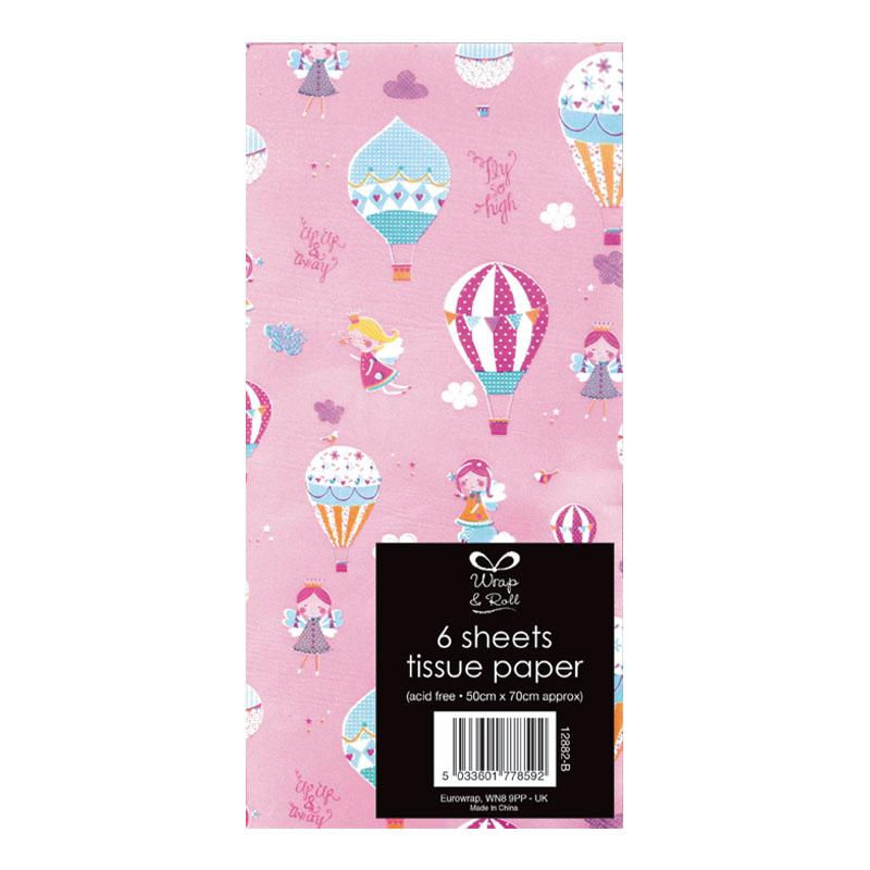 BALLOON TISSUE PAPER SIX SHEETS
