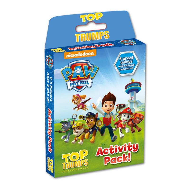 PAW PATROL TOP TRUMPS ACTIVITY PACK 5 GAMES & ACTIVITIES
