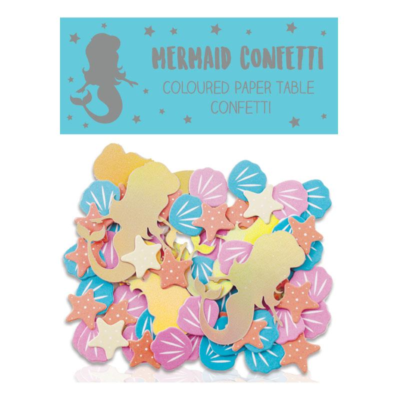 MERMAID COLOURED PAPER TABLE CONFETTIT