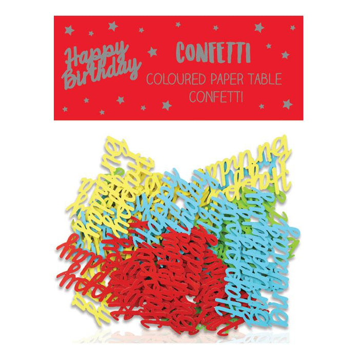 Happy Birthday Coloured Paper Table Confetti