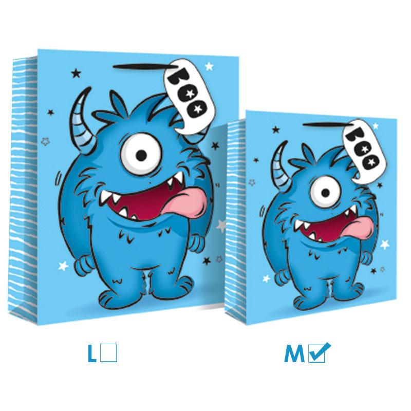 BLUE MONSTER GIFT BAG MEDIUM