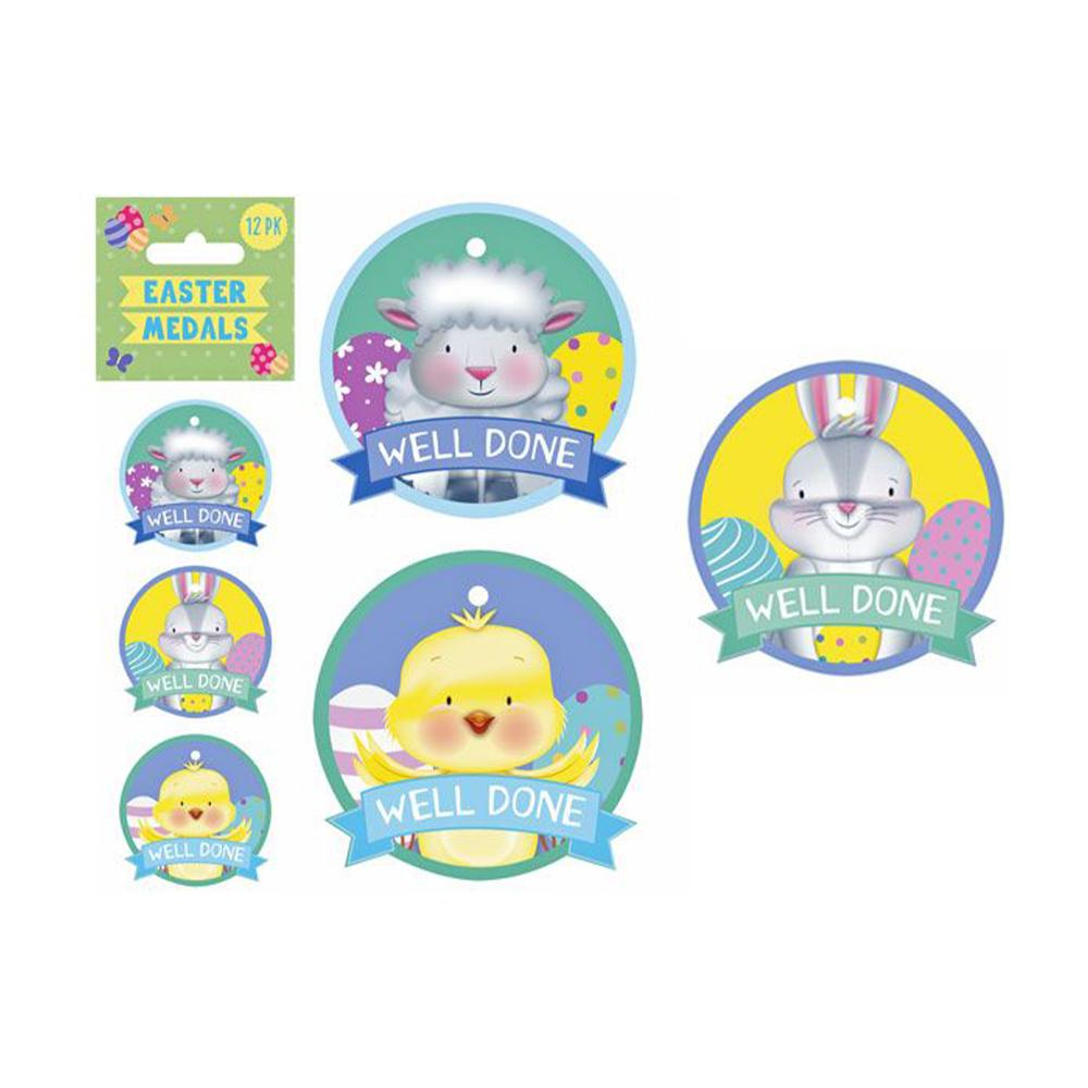 EASTER MEDALS 12PK