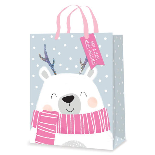 POLAR BEAR LARGE CHRISTMAS GIFT BAG