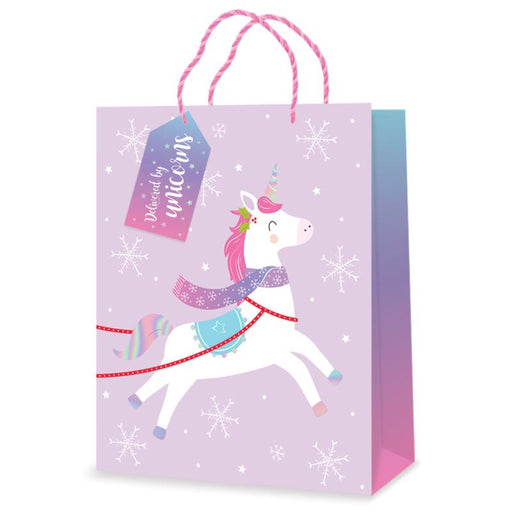 UNICORN LARGE CHRISTMAS GIFT BAG