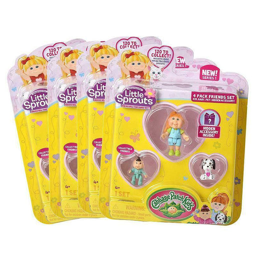 CABBAGE PATCH KIDS LITTLE SPROUTS 4PK FRIENDS MINI FIGURE SET