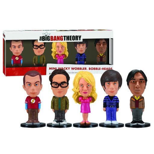 FUNKO THE BIG BANG THEORY MINI WACKY WOBBLER 5PK FIGURE SET