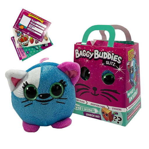 Baggy Buddies Glitzy Surprise Plush Cat