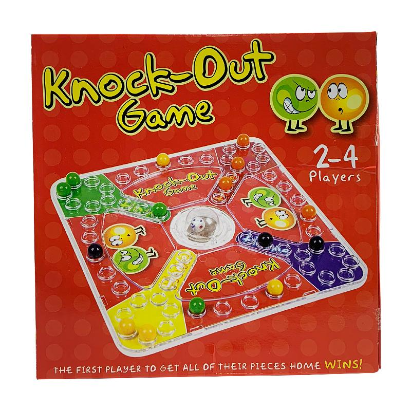 KNOCK-OUT DICE POPPING BOARD GAME