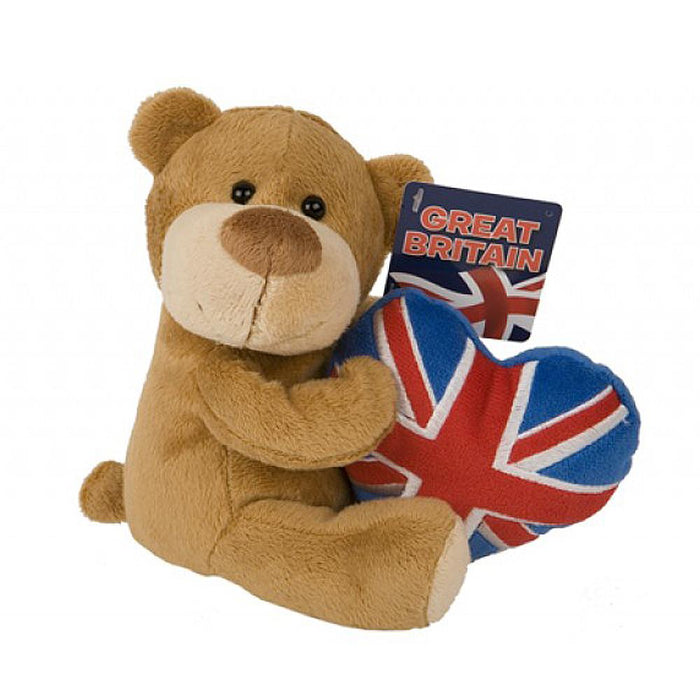 Union Jack Beanie Bear Soft Plush Toy
