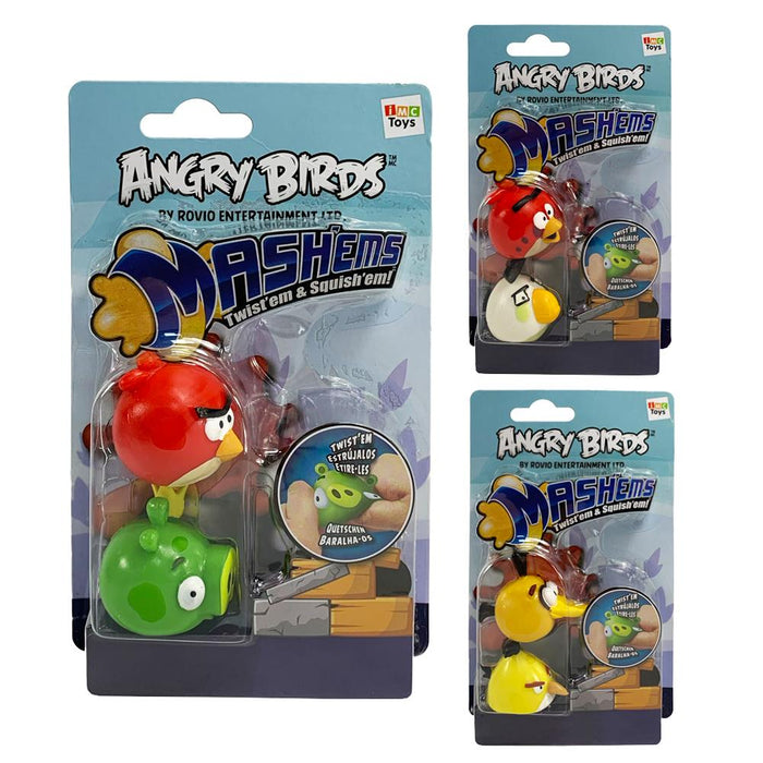 Angry Birds Mash'ems 2pk Squishy Figures