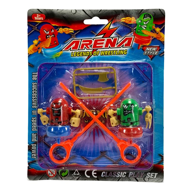 BATTLING RIPCORD SPINNING ROBOTS ARENA SET