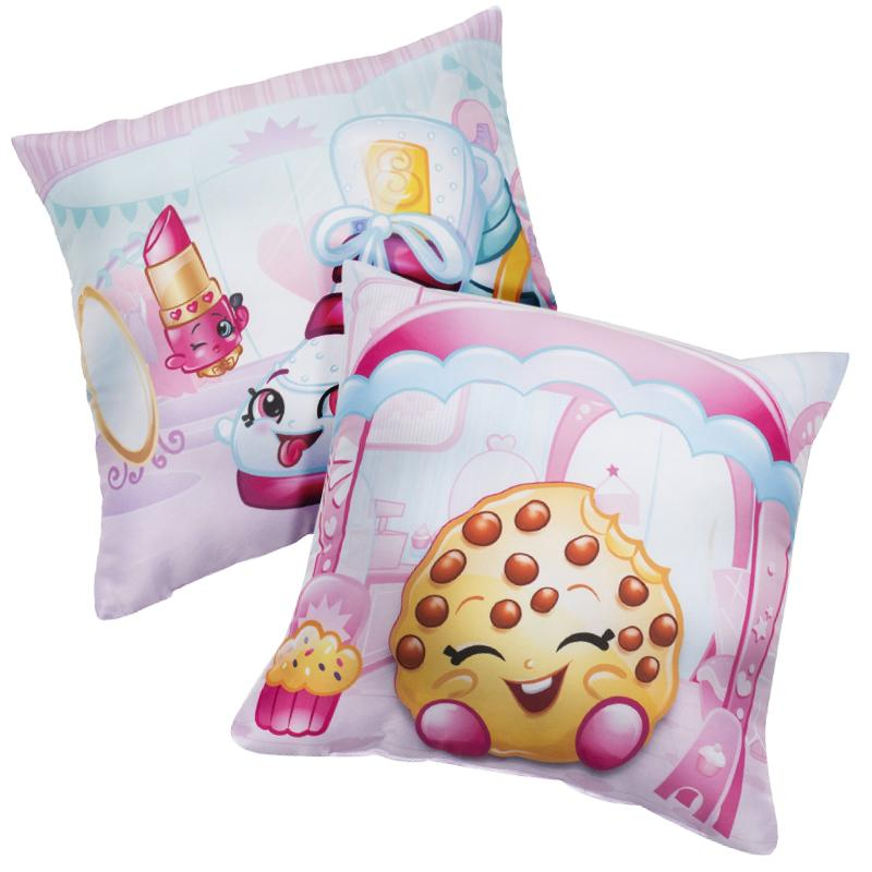 SHOPKINS SHOPAHOLIC DOUBLE SIDED 40CM CUSHION