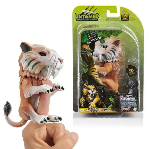 FINGERLINGS UNTAMED SABRETOOTH BONESAW WOWWEE INTERACTIVE PET