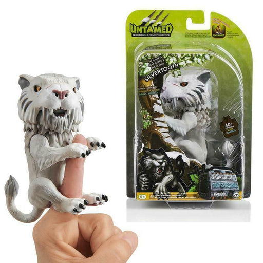 FINGERLINGS UNTAMED SABRETOOTH SILVERTOOTH WOWWEE INTERACTIVE PET