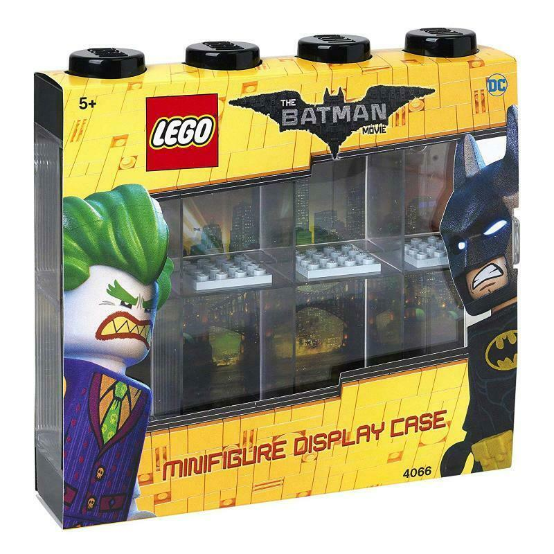 LEGO DC BATMAN MOVIE MINI FIGURE 8 COMPARTMENT DISPLAY CASE