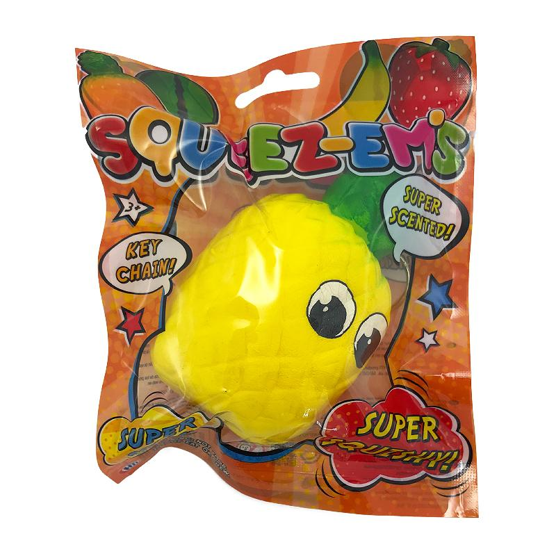 SQUEEZE-EMS PINEAPPLE KEYCHAIN SCENTED SUPER SQUISHY (MED)
