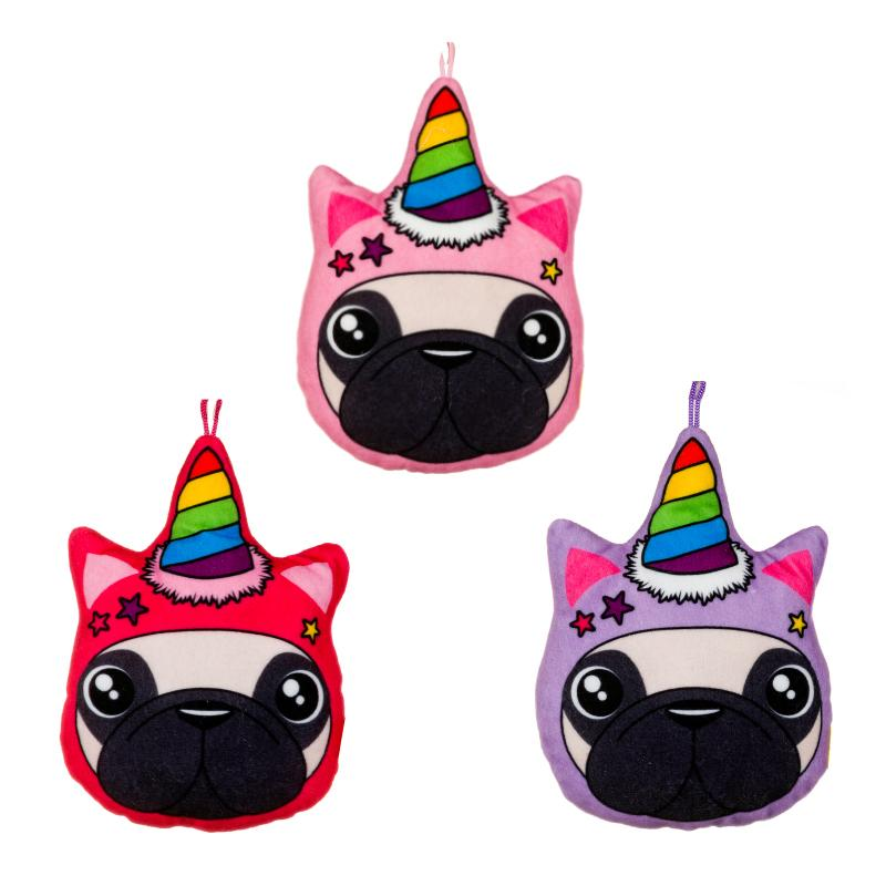 "UNICORN PUG 6"" MINI PLUSH CUSHION"