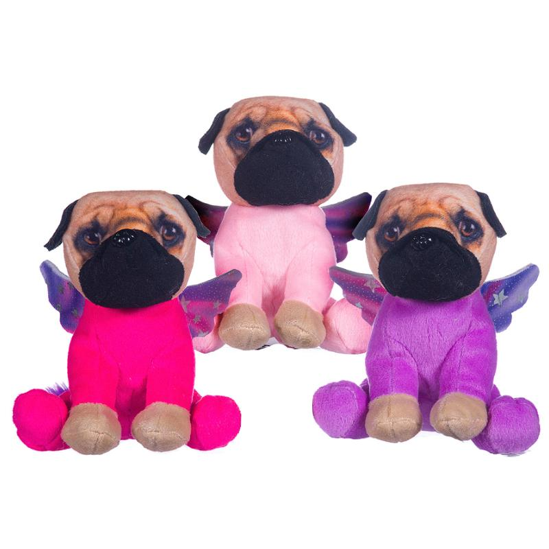 "PUG IN UNICORN COSTUME 6"" SOFT PLUSH TOY"