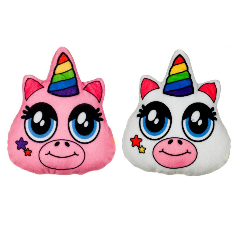 "RAINBOW UNICORN 6"" MINI PLUSH CUSHION"