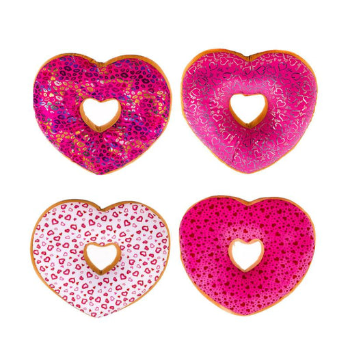 "LOVE HEART DOUGHNUT 5"" SOFT PLUSH TOY"