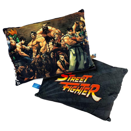 STREET FIGHTER LOGO/GROUP DOUBLE SIDED 35CM CUSHION