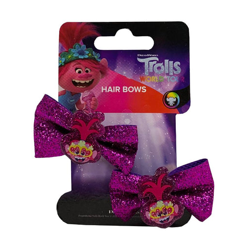 TROLLS WORLD TOUR HAIR BOWS 2PK