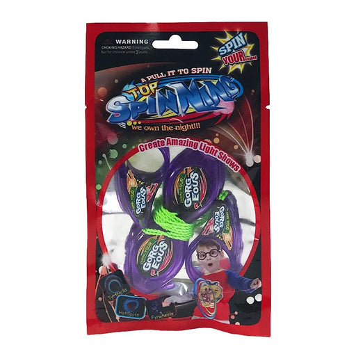 LIGHT SHOW SPINNING TRICK PULL STRING TOY