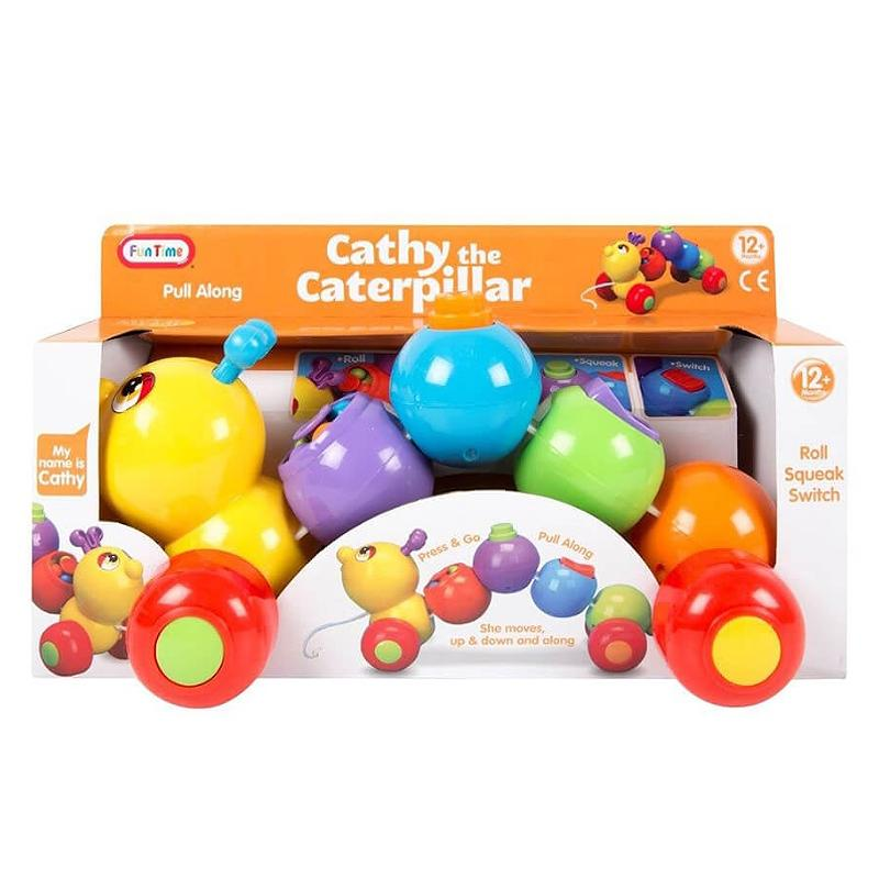 CATHY THE CATERPILLAR PULL & GO ACTIVITY TOY