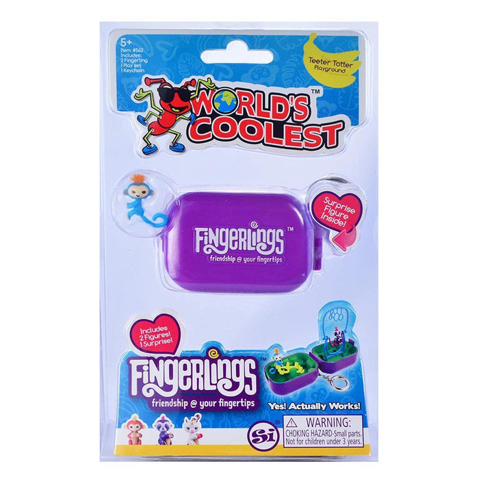 Fingerlings World's Coolest Keychain Mini Play Set